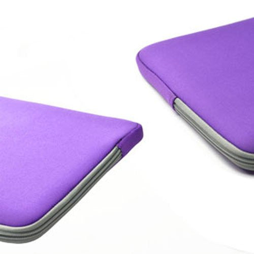 "Zipper Sleeve Purple Bag Case Cover for All Laptop 15"" Macbook or Laptop with Similar Demensions"