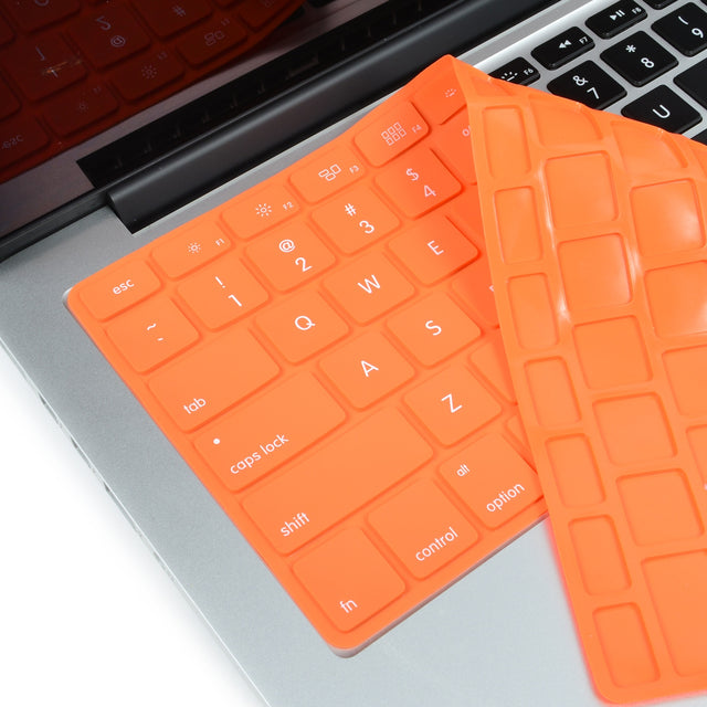Solid ORANGE Silicone Keyboard Cover for Macbook Pro 13 15 17