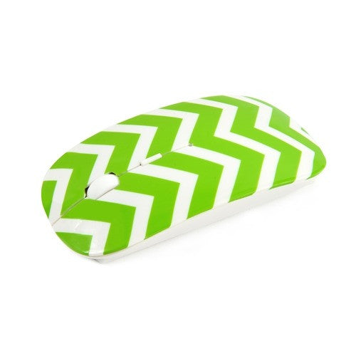 Chevron Series Green USB Wireless Optical Mouse for All Macbook & Laptop - TOP CASE