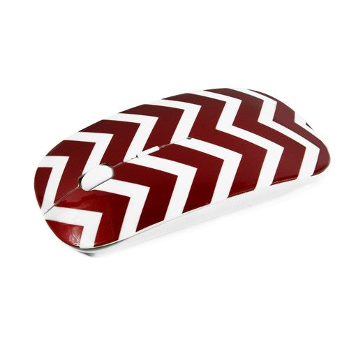 Chevron Series Red USB Wireless Optical Mouse for All Macbook & Lapto - TOP CASE