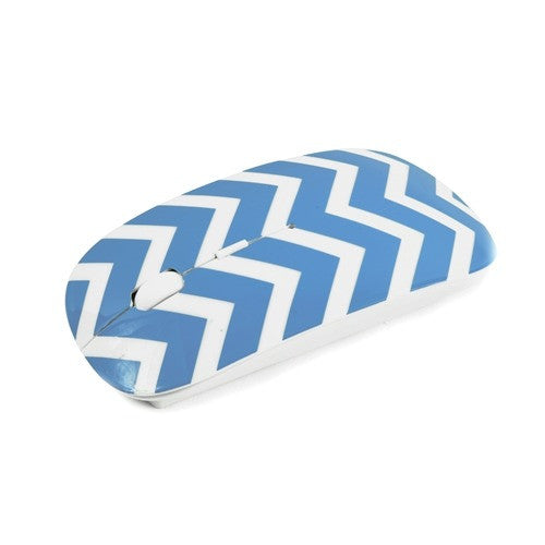 Chevron Series Light Blue USB Wireless Optical Mouse for All Macbook & Laptop - TOP CASE