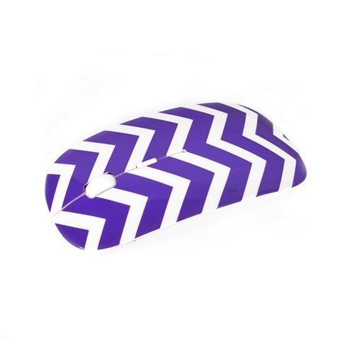 Chevron Series Purple USB Wireless Optical Mouse for All Macbook & Lapto - TOP CASE