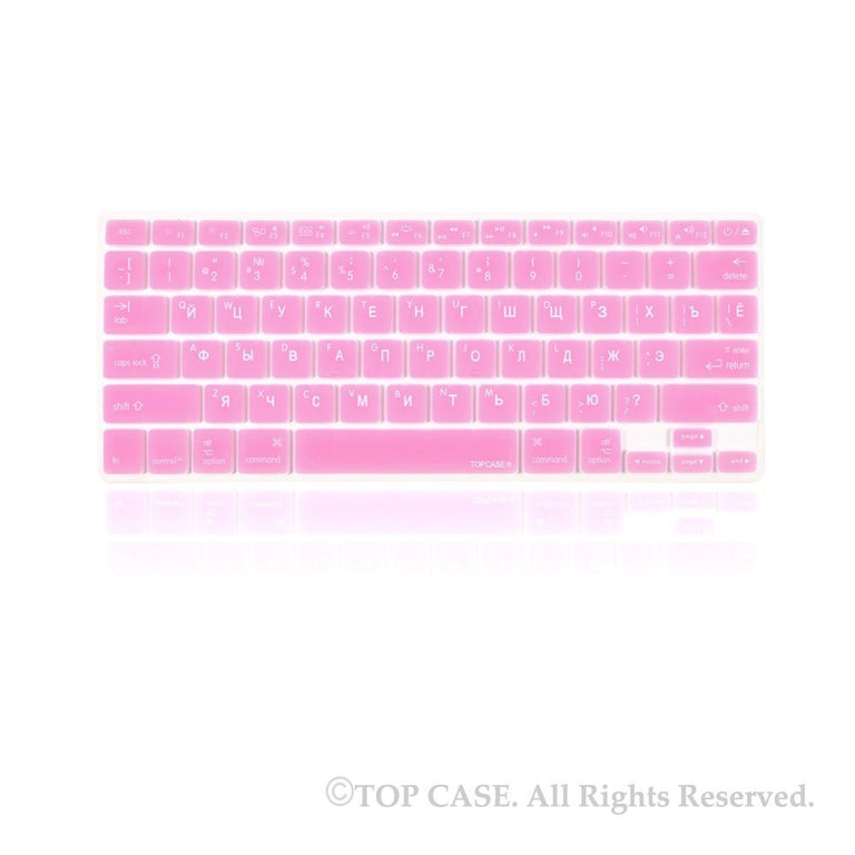 "Russian / English LIGHT PINK Silicone Keyboard Cover for Macbook Pro 13"" 15"" 17"""