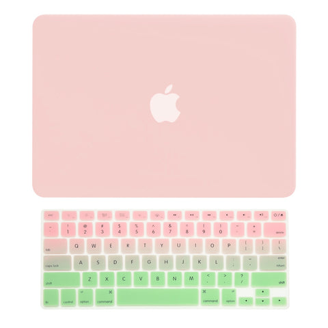 "TOP CASE - 2 in 1 MacBook Pro RETINA 13"" Hard Cover + Keyboard Skin - Rose Quartz"