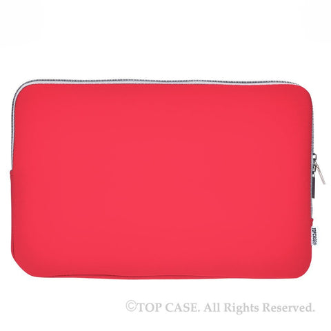 "Zipper Red Sleeve Bag Cover for Macbook 12"" 12-Inch Model: A1534 Retina Noteboook"