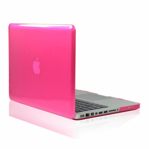 "Hot Pink Crystal Hard Case Cover for NEW Macbook PRO 15"" A1286 - TOP CASE"
