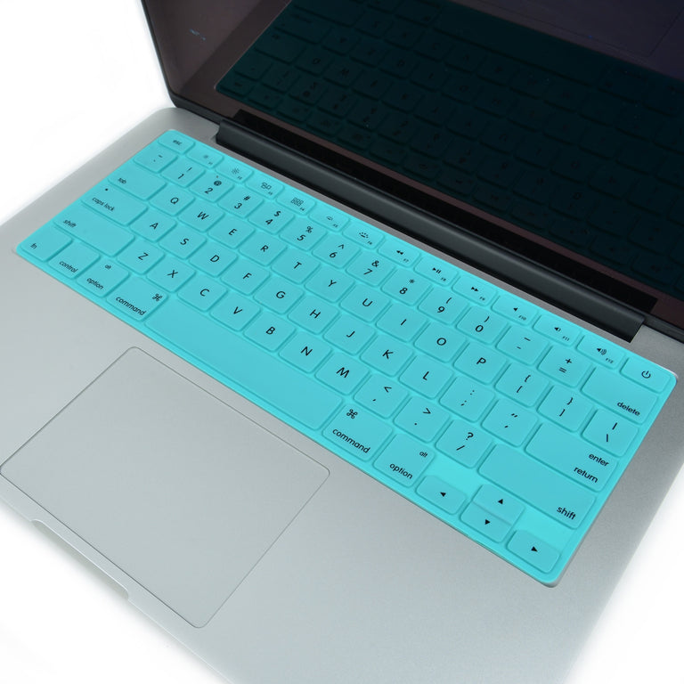 Solid TIFFANY BLUE Silicone Keyboard Cover for Macbook Pro 13 15 17