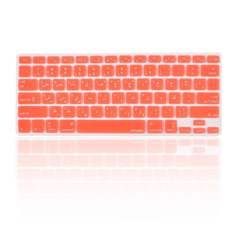 "Orange Arabic / English Silicone Keyboard Cover for Macbook Pro 13"" 15"" 17"" - TOP CASE"