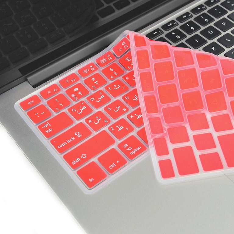 "Red Arabic / English Silicone Keyboard Cover for Macbook Pro 13"" 15"" 17"""