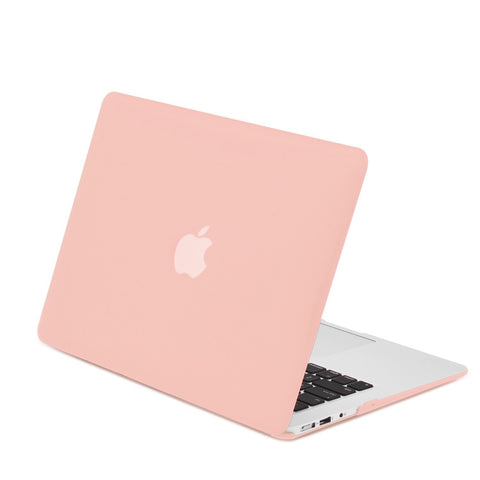 "Rubberized Rose Quartz Hard Case Cover for Macbook Air 11"" A1370/A1465"