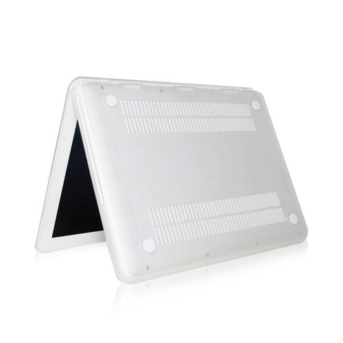 "Clear Rubberized Hard Case Cover for Macbook White 13"" - TOP CASE"