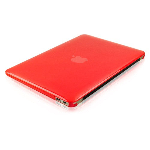 "Crystal Red Hard Case Cover for Macbook Air 13"" A1369 and A1466"