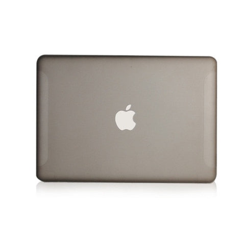 "Grey Rubberized Hard Case Cover for Macbook White 13"" - TOP CASE"
