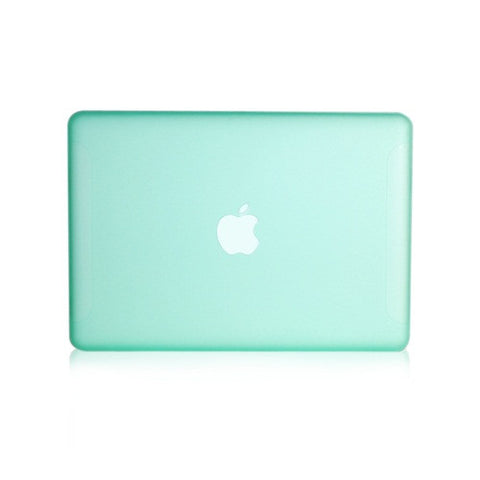 "Green Rubberized Hard Case Cover for Macbook White 13"" - TOP CASE"