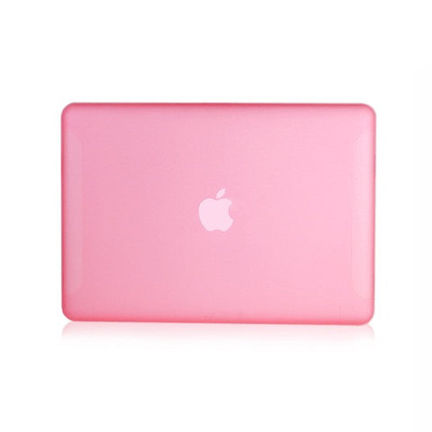 "Pink Rubberized Hard Case Cover for Macbook White 13"" - TOP CASE"