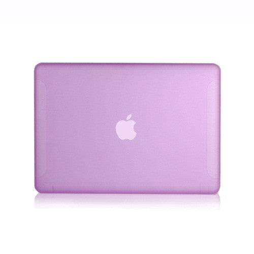 Purple Rubberized Hard Case Cover for Macbook White 13""