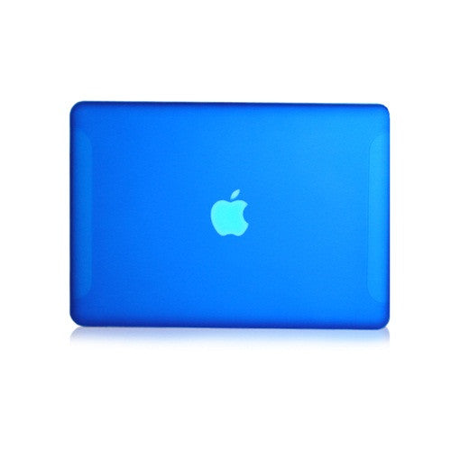 Royal Blue Rubberized Hard Case Cover for Macbook White 13""