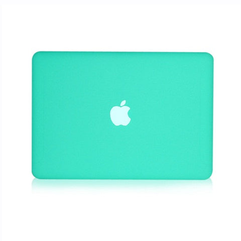 Tiffany Blue Rubberized  Hard Case Cover for Macbook White 13""