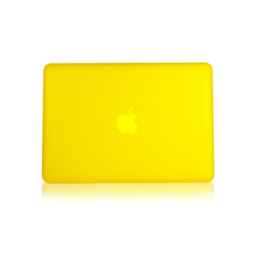 Yellow Rubberized Hard Case Cover for Macbook White 13""