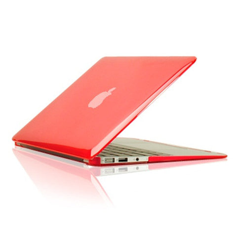 "Crystal Red Hard Case Cover for Macbook Air 13"" A1369 and A1466 - TOP CASE"