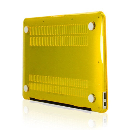Yellow Crystal See Thru Hard Case Cover for Macbook Air 11 A1465/A1370