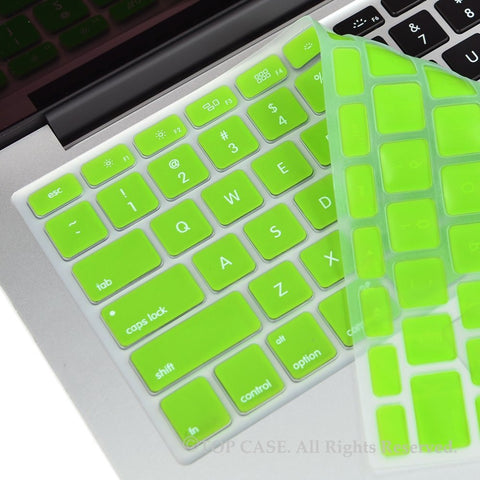 "TOP CASE LIME GREEN Silicone Keyboard Cover Skin for All Macbook 13"" 15"" 17"""