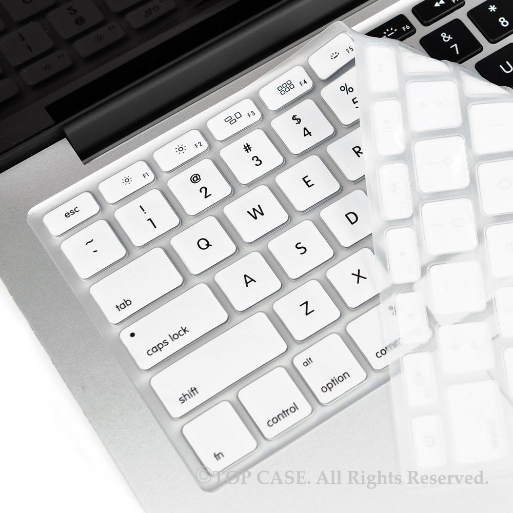 Top Case White Silicone Keyboard Skin Forall Macbook 13