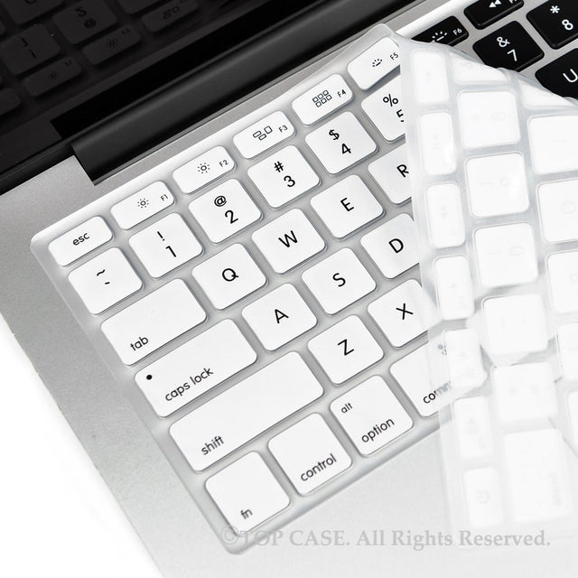 "TOP CASE WHITE Silicone Keyboard Skin forAll Macbook 13"" 15"" 17"""