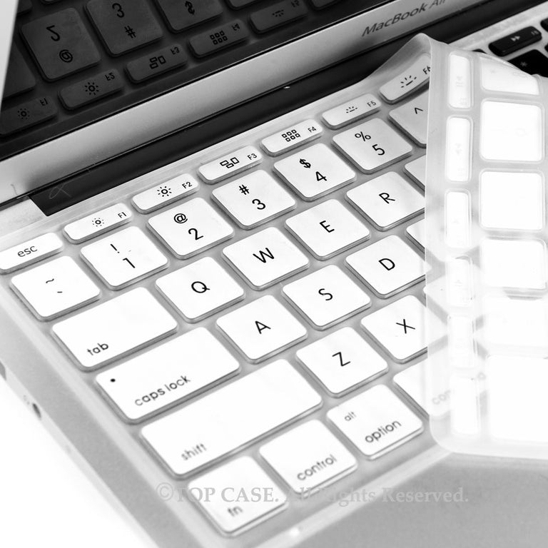 "White Keyboard Silicone Cover Skin for Macbook Air 11"" Model: A1465"