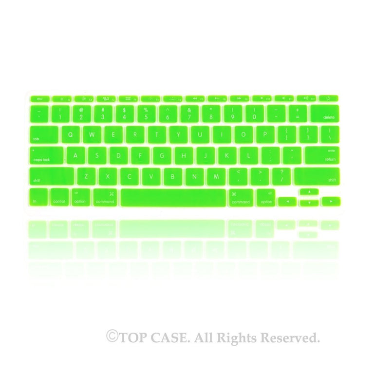 "Neon Green Keyboard Silicone Cover Skin for New Macbook Air 11"" Model: A1465 - TOP CASE"