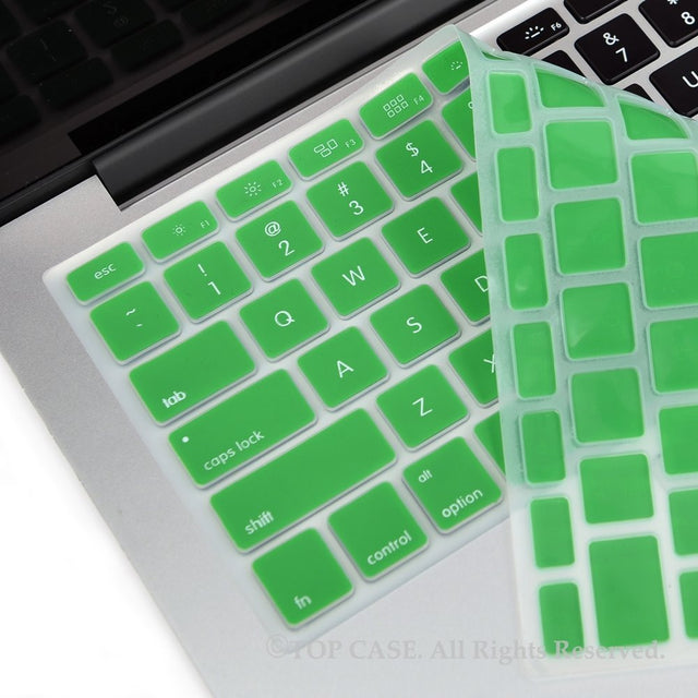 "TOP CASE GREEN Silicone Keyboard Skin for All Macbook 13"" 15"" 17"""