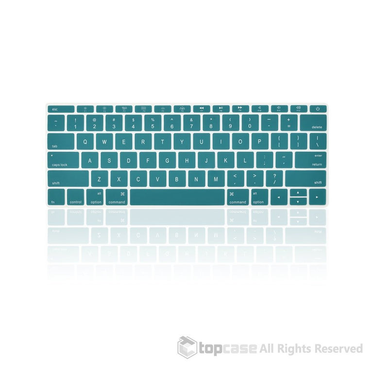 "Apple New Macbook 12"" Aqua Blue keyboard Cover Silicone Skin for Macbook 12-inch with Retina Display Model A1534 Newest Version 2015 - TOP CASE"