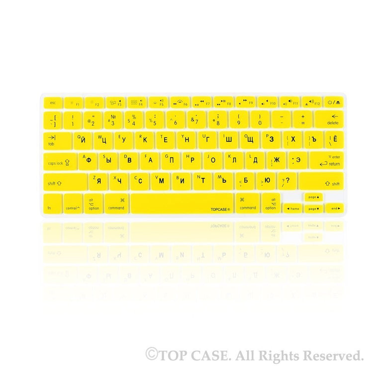 "Russian / English YELLOW Silicone Keyboard Cover for Macbook Pro 13"" 15"" 17"""