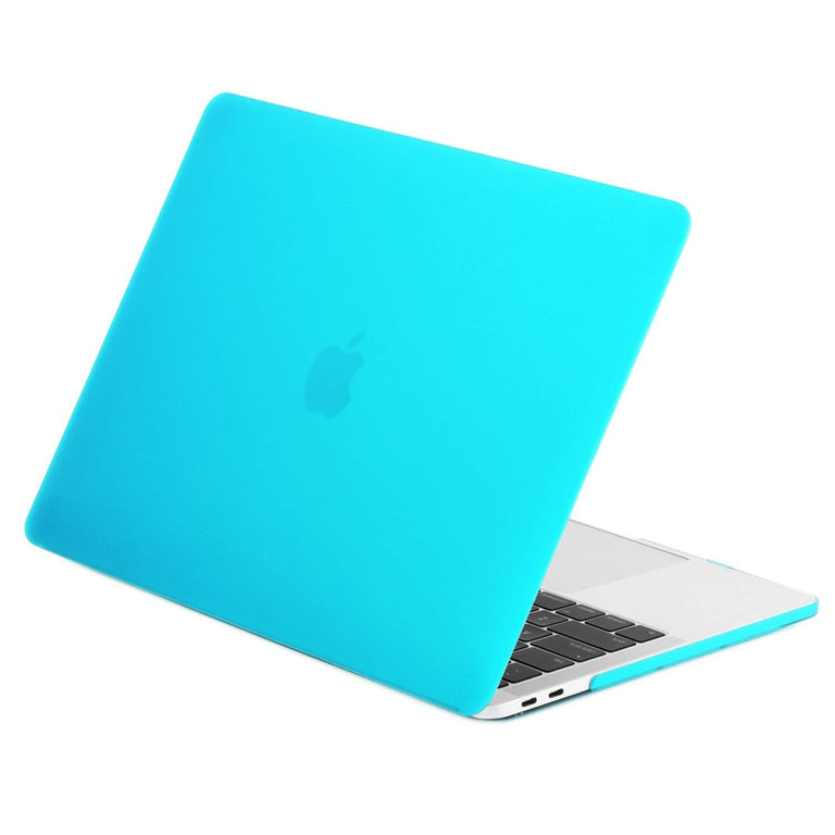 "TOP CASE - 4 in 1 Matte Hard Case,Keyboard Cover,Sleeve Bag,Screen Protector Compatible With MacBook Pro 13"" A1989,A1706 with Touch Bar (Release 2017,2016,2018) - Aqua Blue"