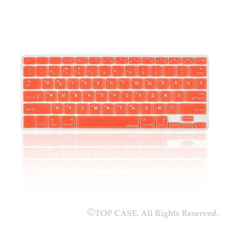 "Russian / English Orange Silicone Keyboard Cover for Macbook Pro 13"" 15"" 17"""