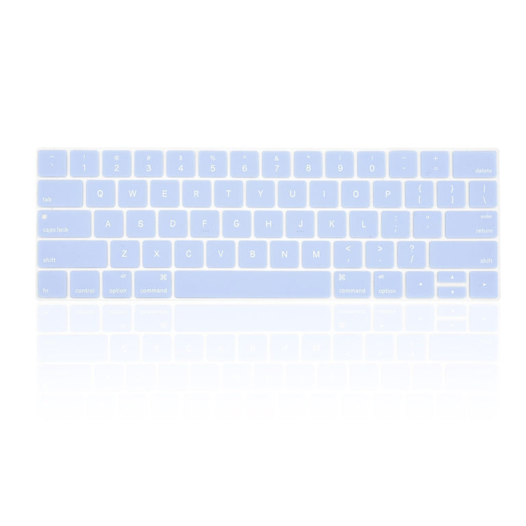 "TOP CASE - 4 in 1 Matte Hard Case,Keyboard Cover,Sleeve Bag,Screen Protector Compatible With MacBook Pro 13"" A1989,A1706 with Touch Bar (Release 2017,2016,2018) - Serenity Blue"