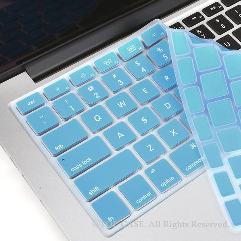 "TOP CASE Sky Blue Silicone Keyboard Cover Skin for All Macbook 13"" 15"" 17"""