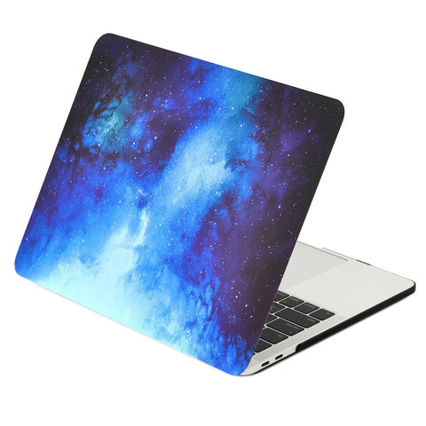 Galaxy Graphic Rubberized Hard Case Cover for MacBook Pro 15-inch with Touch Bar Model: A1707 (2016 Release) - Galaxy Blue