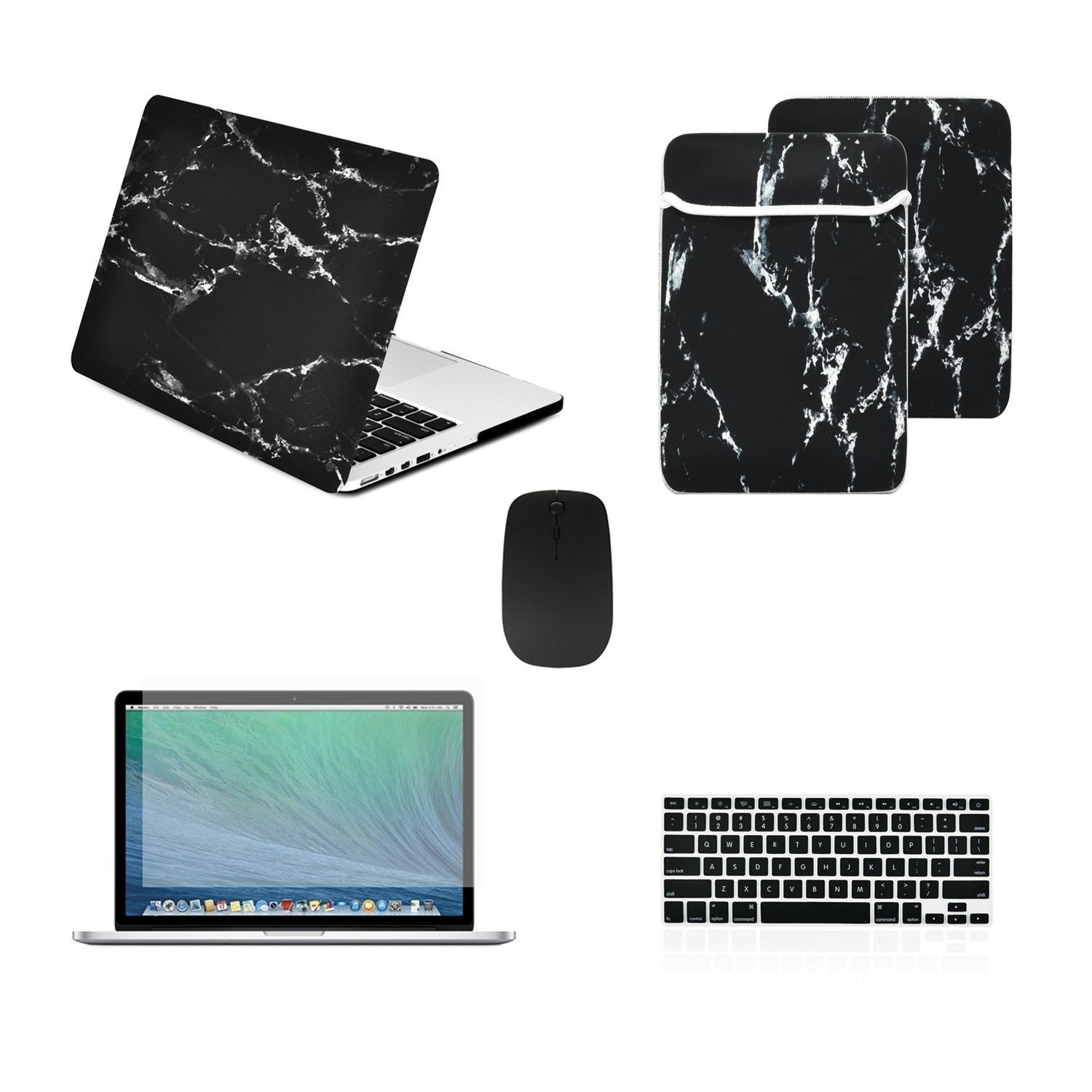 "Matte Chevron GREY Hard Case Keyboard Cover Macbook Pro 13/"" Retina A1425//A1502"