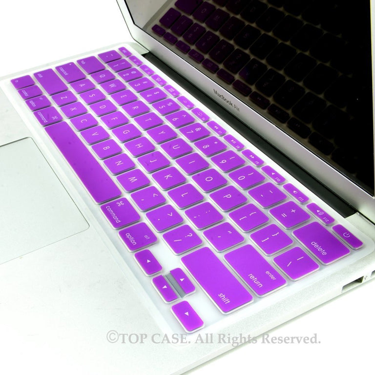 "Purple Keyboard Silicone Cover Skin for Macbook Air 11"" Model: A1465"