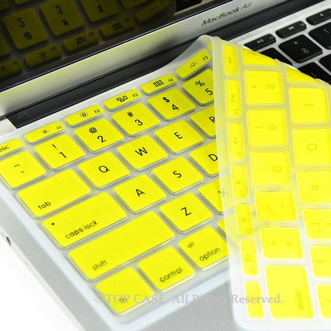 "Yellow Keyboard Silicone Cover Skin for Macbook Air 11"" Model: A1465"
