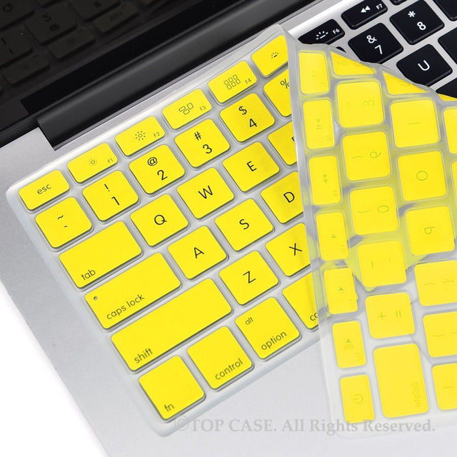"TOP CASE YELLOW Silicone Keyboard Skin for All Macbook 13"" 15"" 17"""