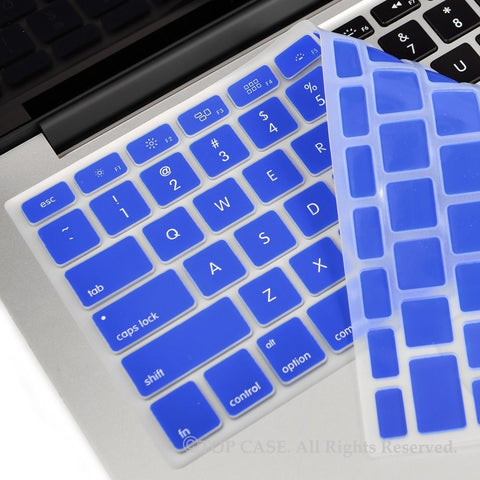 "TOP CASE ROYAL BLUE Silicone Keyboard Skin for All Macbook 13"" 15"" 17"""