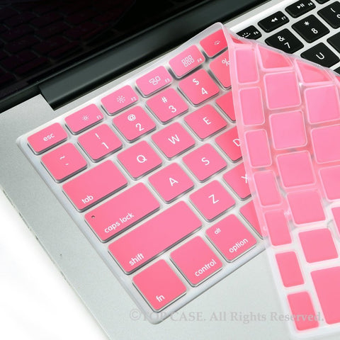 "TOP CASE Rose Pink Silicone Keyboard Cover Skin for All Macbook 13"" 15"" 17"""
