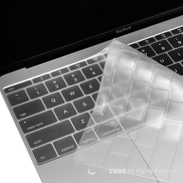 "Apple New Macbook 12"" transparent TPU keyboard Cover Silicone Skin for Macbook 12-inch with Retina Display Model A1534 Newest Version 2015 - TOP CASE"