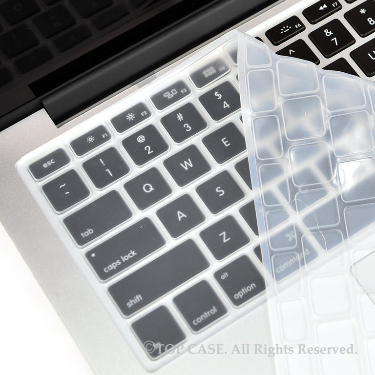 "TOP CASE CLEAR Silicone Keyboard Skin for All Macbook 13"" 15"" 17"""