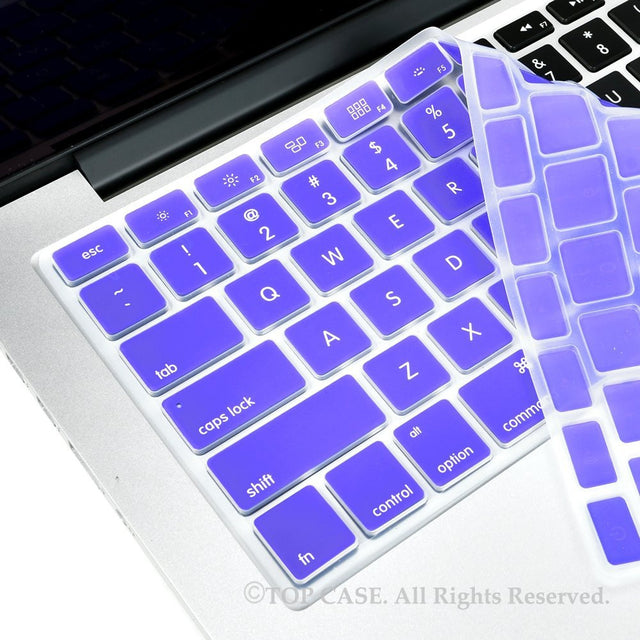 "TopCase Dark Violet Silicone Keyboard Cover Skin for All Macbook 13"" 15"" 17"""