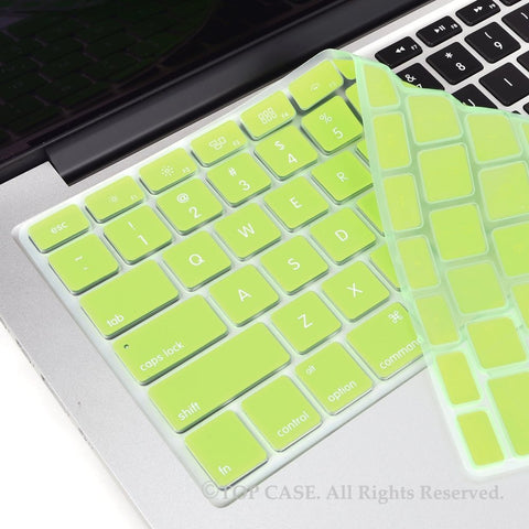 "Apple Green Silicone Keyboard Cover Skin for for All Macbook 13"" 15"" 17"" - TOP CASE"