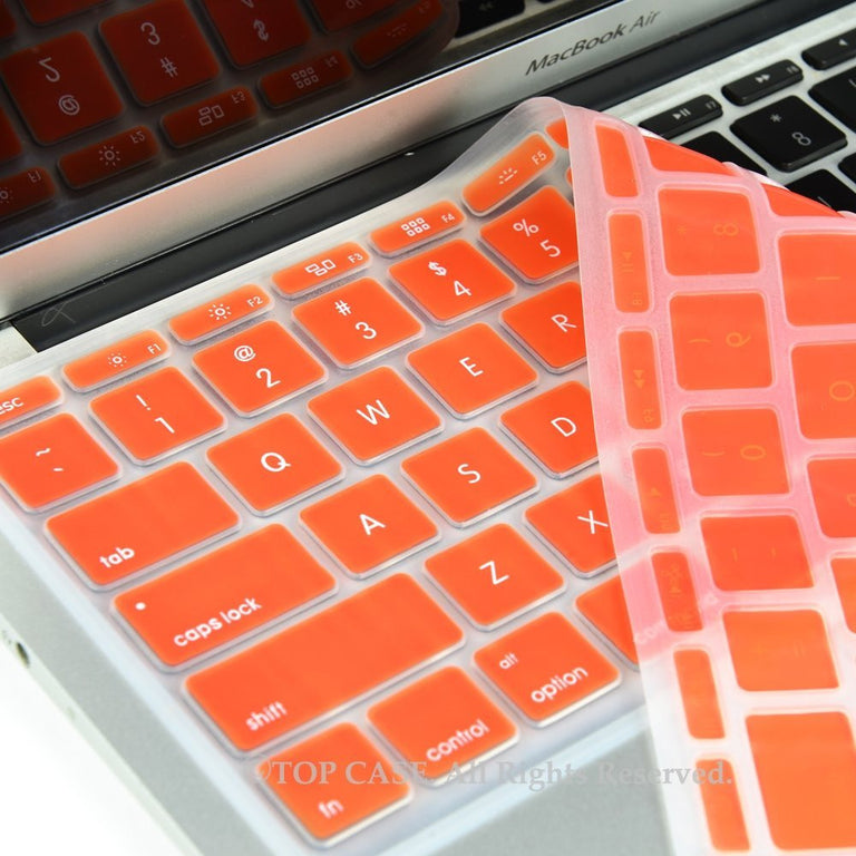 "Orange Keyboard Silicone Cover Skin for New Macbook Air 11"" Model: A1465 - TOP CASE"