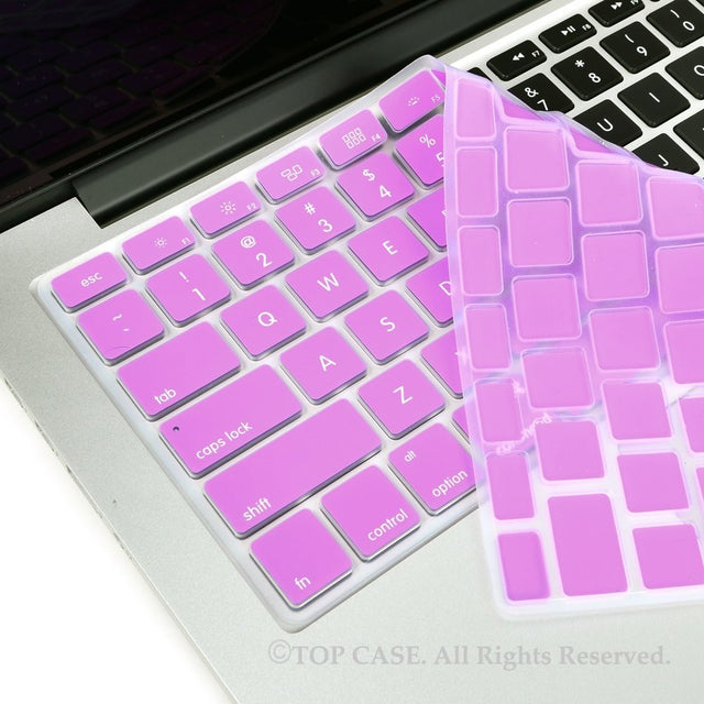 "TOP CASE Fuchsia Silicone Keyboard Cover Skin for All Macbook 13"" 15"" 17"""